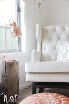 Modern, yet rustic details in this serene neutral nursery!