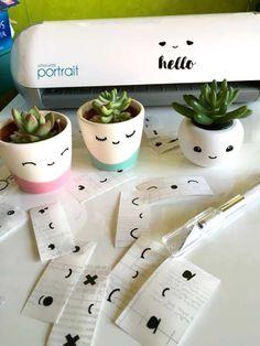 DIY cute vinyl eye decals to make everything adorable