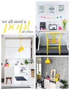{Interior Inspiration} A Pop Of Yellow!