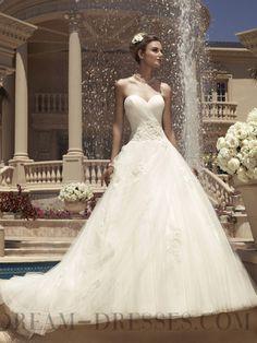 2014 Sexy Ball Gown Sweetheart Sleeveless Organza Wedding Dresses