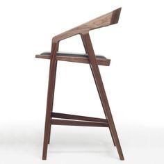 Silla de bar / moderna / tapizada / de roble blanco - KATAKANA - Dare Studio