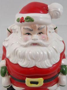 Vintage Lefton Santa Claus Cookie Jar Vintage by SusieSellsVintage, $25.00
