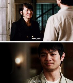 Supernatural they finally get to see each other Supernatural Season 9, Supernatural Gifs, Winchester Supernatural, Winchester Boys, Linda Tran, Kevin Tran, Osric Chau, Emmanuelle Vaugier, Angels And Demons