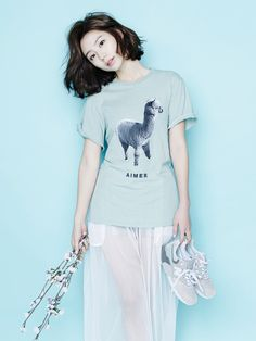 llama t-shirt - Short Bob Hair Styles Korean Fashion Shorts, Korean Fashion Winter, Korea Fashion, Asian Fashion, Girl Fashion, Fashion Hair, Korean Short Hair, Asian Street Style, Soo Jin