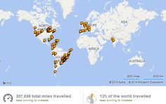World, Surprise me: My Travel Map
