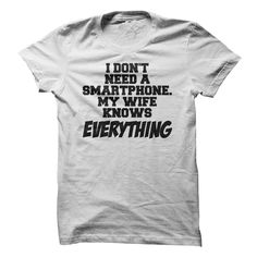 #wife #smartphone #tech #technology #white #tee #tshirt #funny #hilarious #cool #awesome