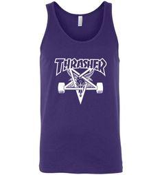 Amazing THRASHER Skateboard Magazine Skategoat Logo Unisex Tank top