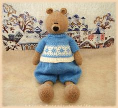 Toy Bear Knitting Pattern / knitting pattern toy / knitted