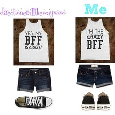 # Best Friends shirts Z is the crazy BFF M is the one with the crazy BFF Best Friend T Shirts, Bff Shirts, Best Friend Outfits, Cute Shirts, Funny Shirts, Look Fashion, Teen Fashion, Fashion Outfits, Twin Outfits