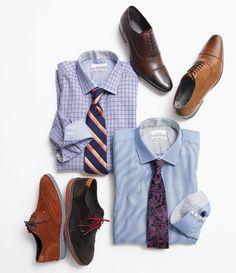 Camisas + corbatas + zapatos