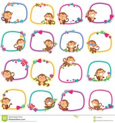Classroom Charts, Classroom Themes, School Cartoon, School Labels, Kids Labels, 1st Grade Worksheets, Cute Paintings, Cute Monkey, Binder Organization