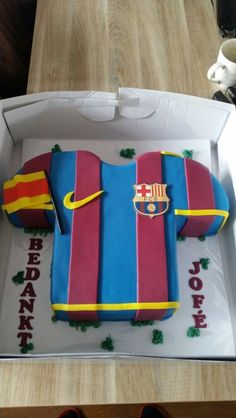 Fc Barcelona shirt taart