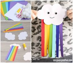 Cute Paper Rainbow Craft Kids Can Make