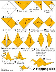 How To Make Origami Flapping Bird Easy