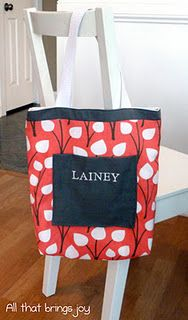 DIY kids tote bag with tutorial