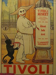 clown Creepy Old Circus Poster of the Day