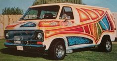 """Iron Butterfly custom van back in the day"""