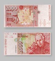 2.000 Pesetas de la Antigua Moneda Española - Money Made in Spain