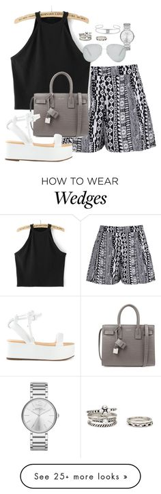 """""""Sin título #1428"""" by camila-echi on Polyvore featuring Boohoo, Yves Saint Laurent, Marc by Marc Jacobs, Gerard Yosca, Forever 21 and Victoria Beckham"""