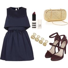This is how I would like to wear the Duchess Skater Dress from Topshop.