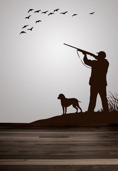 Hunting Nursery Duck Hunting Hunting Dog by VinylWallAdornments