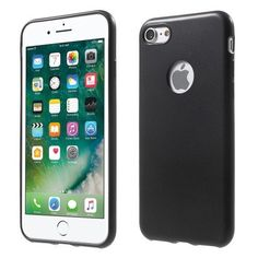 Rubberized Soft TPU Case for iPhone 7 4.7 - Black