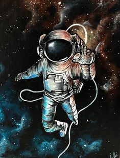 20% of all sales are donated. -Art print of an astronaut in space. -Print of an original, acrylic painting. -Print is on glossy, thick, good-quality paper. Perfect for framing or matting. -Disclaimer- Does not come with frame or mat, it is just a print.