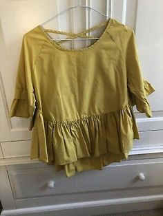 Shein Mustard Top One Size. Dispatched with Royal Mail Class. Black Lace Tops, Blue Tops, Mustard Top, Bardot Top, High Neck Top, Royal Mail, Khaki Green, Long Sleeve Tunic, Lace Sleeves
