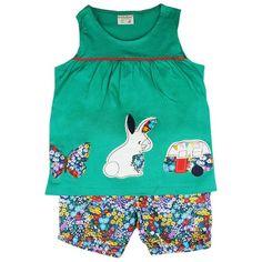 Honey & Clover Kidswear / Children's Apparel | Green Sleeveless 2-Piece Set by Little Bitty