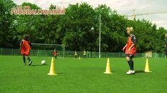 Fußball-Übung: Gassenspiel, Angriffstrategien im Zentrum trainieren