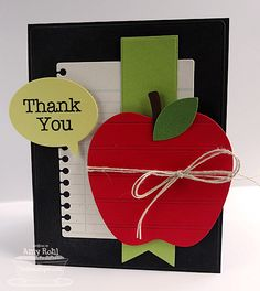 Teacher Thank You by rohla - Cards and Paper Crafts at Splitcoaststampers