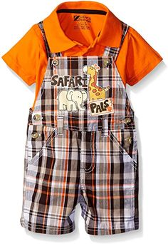 790cd07ca25e Amazon.com  Boyzwear Little Boys 2 Piece Shortall Set with Polo