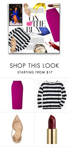 """""""Hint Of Color"""" by tonituff ❤ liked on Polyvore featuring Roland Mouret, Chanel, J.Crew, Christian Louboutin and Urban Decay"""