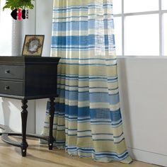 Phenomenal recommendations to take a look at Striped Curtains, Velvet Curtains, Sheer Curtains, Kids Room Curtains, Living Room Drapes, Yellow Stripes, Blue Yellow, Types Of Curtains, Beautiful Curtains