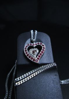 Your place to buy and sell all things handmade Sterling Silver, Chic, Pendant, Heart, Shabby Chic, Pendants, Elegant