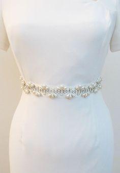 Bridal cristal perle perlée ceintures Sash ceinture par gebridal