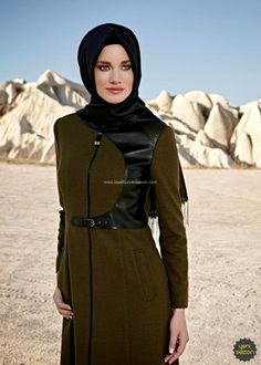 Alvina Kahve Manto 2016 Kış   Yeni Sezon   Armine   Kayra   Setrms Islamic Fashion, Muslim Fashion, Hijab Fashion, Niqab, Dresses, Style, Gowns, Vestidos, Swag