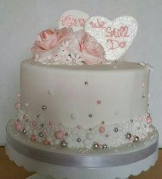 Jubileum bruidstaart #weddinganniversarycake