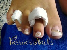wedding pedicure gold - Google Search
