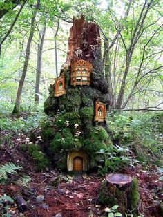 A fairyland castle for the strawberry bed