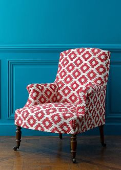 Discover all the information about the product Upholstery fabric / patterned / viscose TOLEDO : TEXAS - MANUEL CANOVAS and find where you can buy it. Chair Fabric, Deco Design, Wingback Chair, Red Armchair, Settee, Chair Cushions, Cool Chairs, My Living Room, Small Living