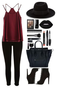 """""""Work it"""" by skaltoft on Polyvore featuring CÉLINE, Maison Michel, Lime Crime, Lancôme, Bobbi Brown Cosmetics, Sonia Kashuk, Gucci, GHD, Chanel and Smashbox"""