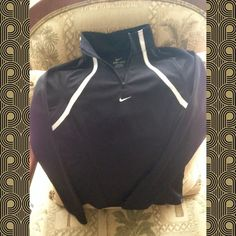 """Nike women""""s pullover long sleeve dry-fit shirt Zipper dry fit long sleeve lightweight keep dry as you workout. Size xSmall Nike Skirts"""