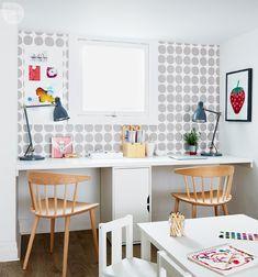 basement office setup 3. Basement Makeover: Functional Family Playroom Office Setup 3