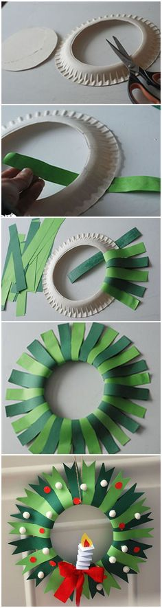 Do this in 2 parts with painted papers instead of construction paper