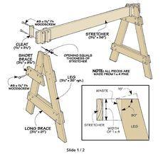 Knock-Down Sawhorses | WoodworkerZ.com