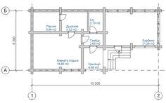 """Проект бани """"Удобная"""" - Баня до 100 кв.м - проектная и строительная компания АБС-Строй"""