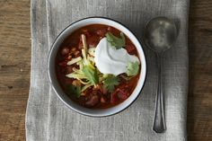 Best Ever Turkey Chili, a recipe on Food52!  I tried this last night and it was so tasty!  The chili paste really makes it nice and hot!  I substituted the beer for homemade chicken stock and it was still great.