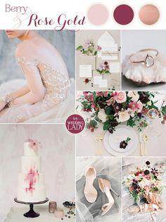 Sparkling Berry and Rose Gold Glam Wedding Inspiration | http://heyweddinglady.com/berry-rose-gold-glam-wedding-inspiration/