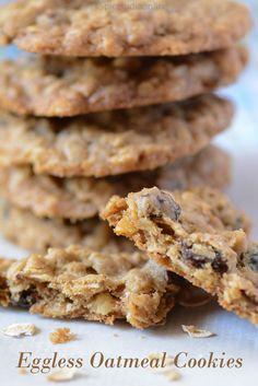 Eggless Oatmeal Cookies